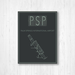 Palm Springs International Airport Map Print
