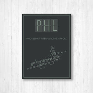 Philadelphia International Airport Map Print