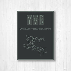 Vancouver International Airport Map Print