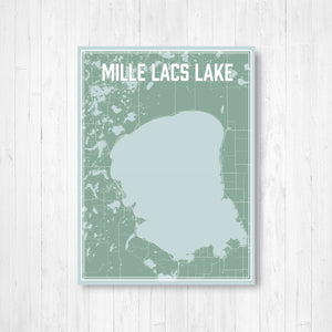 Map of Mille Lacs Lake