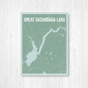 Great Sacandaga Lake Map Print
