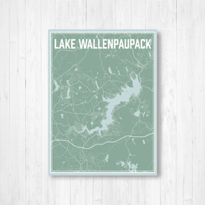 Lake Wallenpaupack Pennsylvania Street Map Print