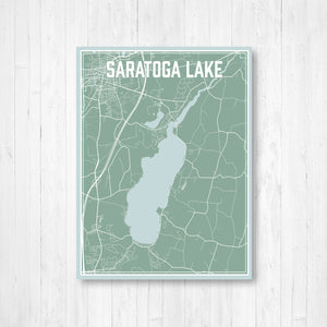 Saratoga Lake New York Street Map Print