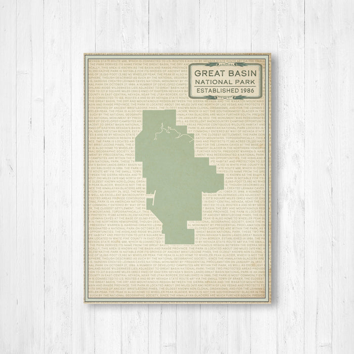 Great Basin National Park Map Print