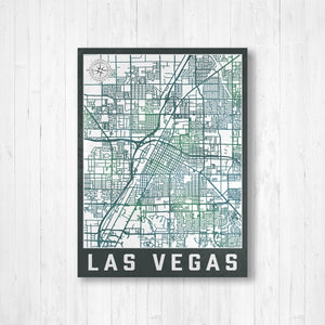Las Vegas Nevada City Street Map Print