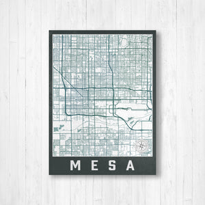 Mesa Arizona Urban Street Map Print