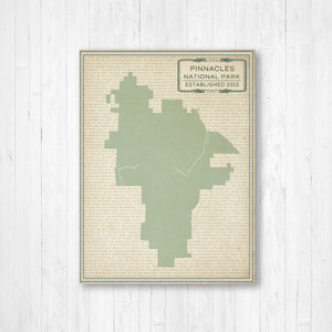 Pinnacles National Park Map Print