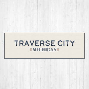 Traverse City Michigan Canvas Sign Print