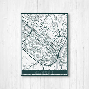 Albany New York City Map