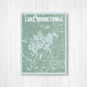 Lake Minnetonka Minnesota Street Map Print