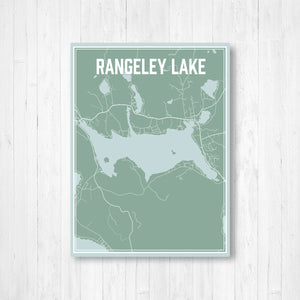 Rangeley Lake Maine Street Map Print