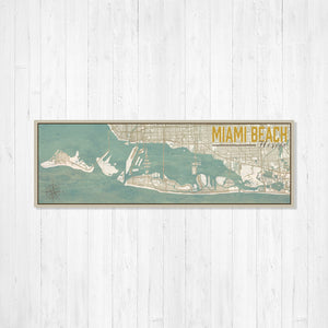 Miami Beach Florida Nautical Street Map