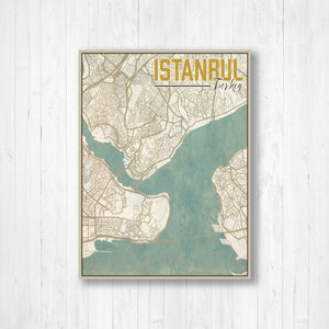 Istanbul Turkey City Map