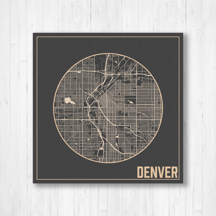 Denver Colorado Square Street Map