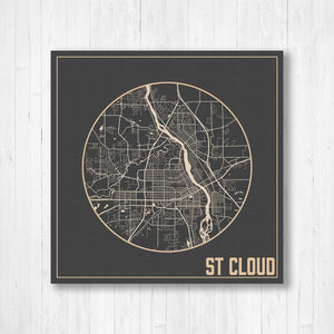 St Cloud Minnesota City Street Map Print