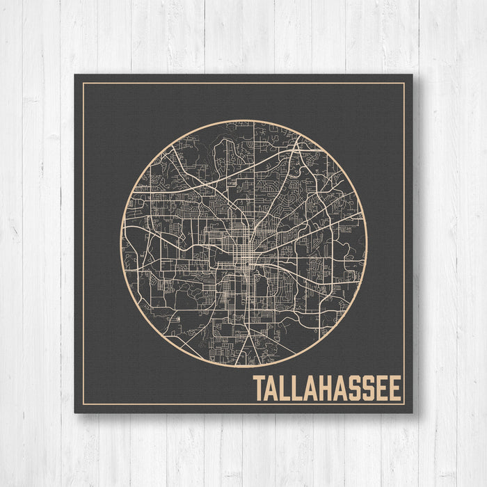 Tallahassee Florida City Street Map Print