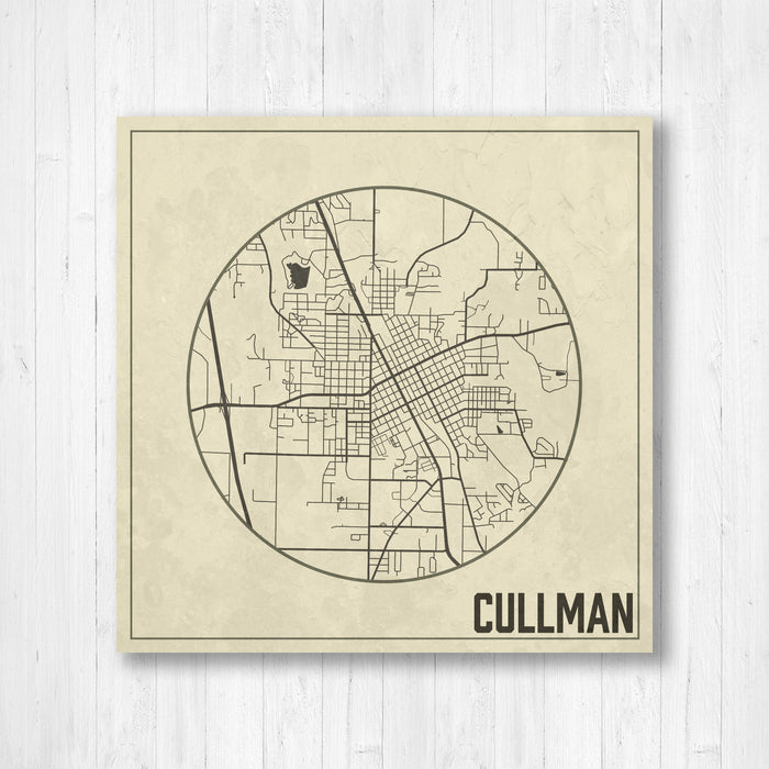 Cullman Alabama City Street Map Print