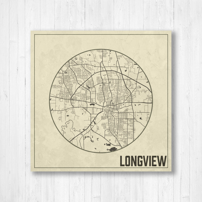 Longview Texas City Map