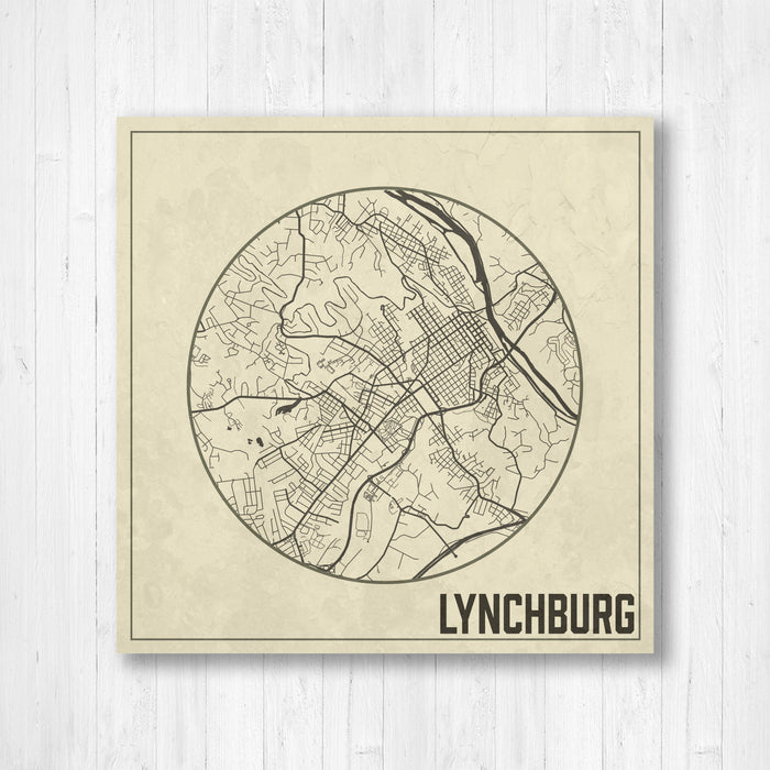 Lynchburg Virginia City Map