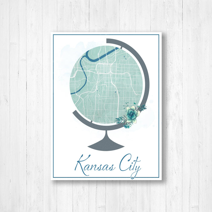 Kansas City Globe Street Map