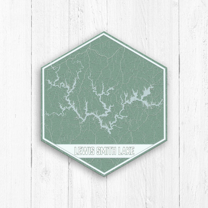 Lewis Smith Lake Hexagon Print