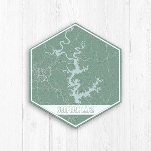 Norfork Lake Arkansas Hexagon Print