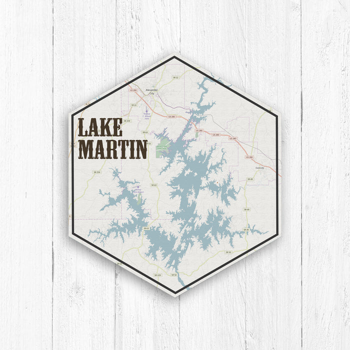 Lake Martin Hexagon Canvas Print