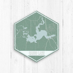 Caddo Lake Louisiana Hexagon Map
