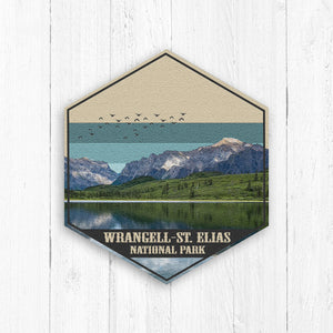 Wrangell-St. Elias National Park Hexagon Print