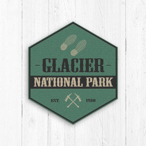 Glacier National Park Logo Hexagon