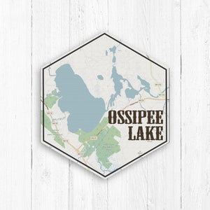 Ossipee Lake New Hampshire Hexagon Canvas