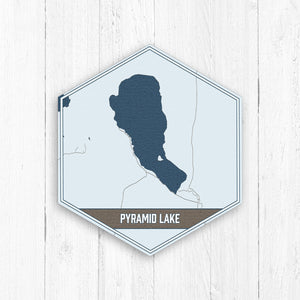 Pyramid Lake Nevada Hexagon Lake Print