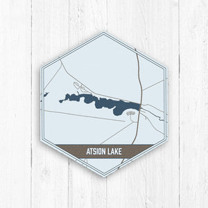Atsion Lake New Jersey Hexagon Map Print