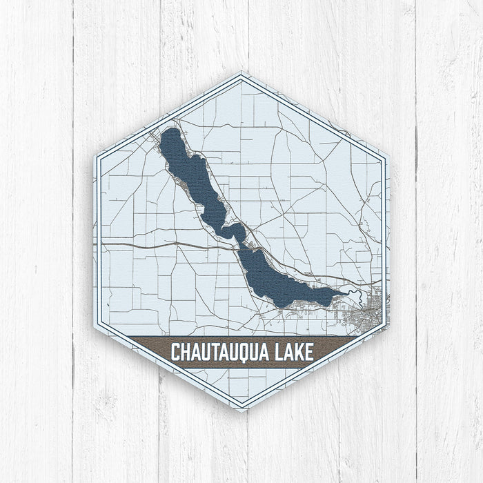 Chautauqua Lake New York Hexagon Map Print