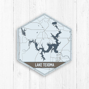 Lake Texoma Oklahoma Hexagon Canvas Print
