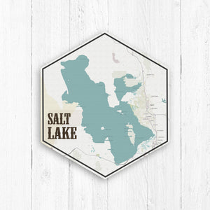 Salt Lake Canvas Hexagon