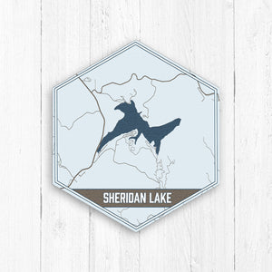 Sheridan Lake South Dakota Hexagon Map Print