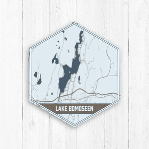 Lake Bomoseen Vermont Hexagon Print