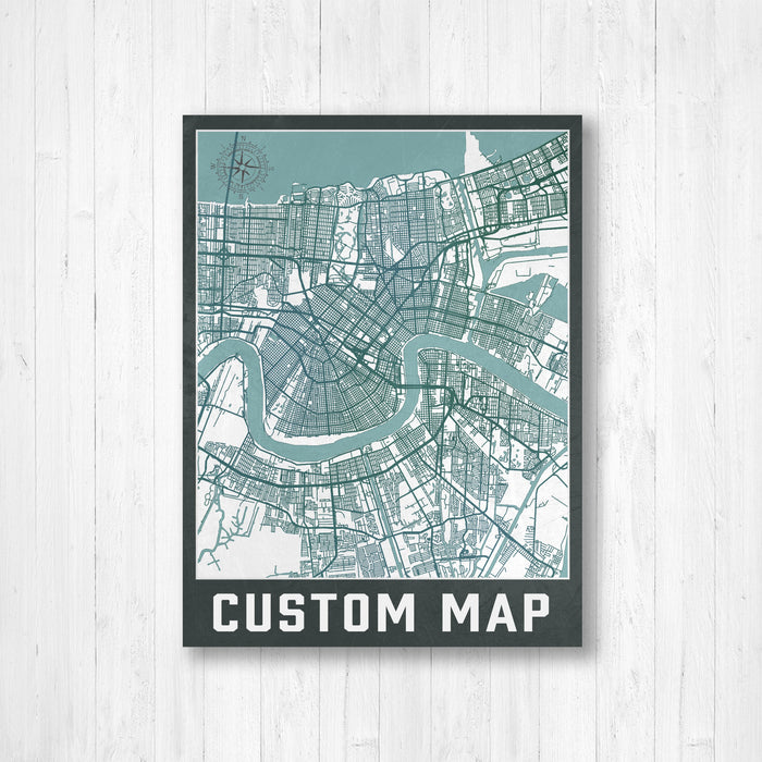Custom Urban City Street Map Print