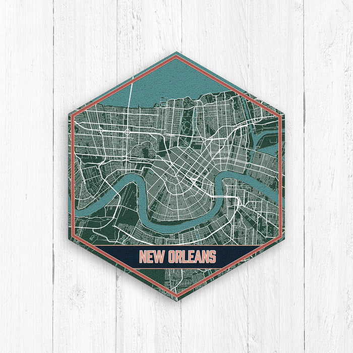 New Orleans Louisiana Hexagon Print