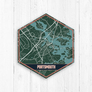 Portsmouth New Hampshire Urban Map Print