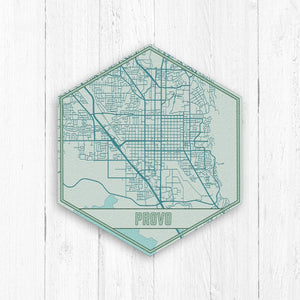 Provo Utah Hexagon Print