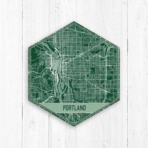 Portland Oregon City Street Map Print