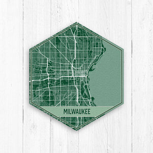 Milwaukee Wisconsin Street Map Hexagon