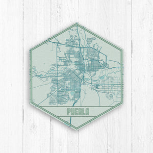 Pueblo Colorado Hexagon Print