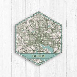 Baltimore Maryland Street Map Print