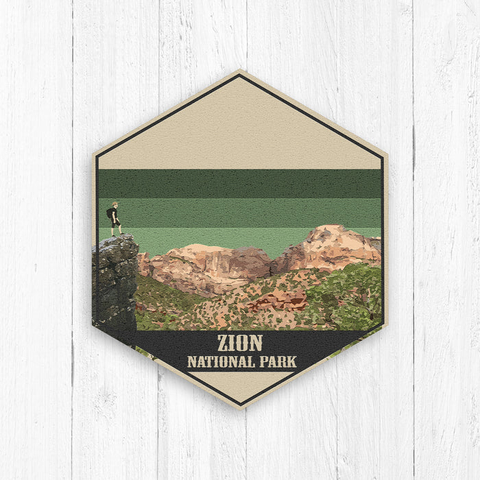 Zion National Park Hexagon Print