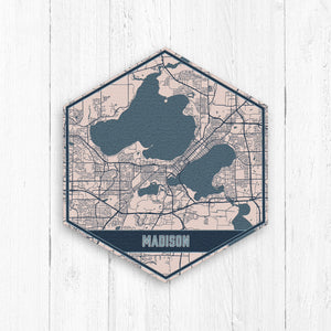 Madison Wisconsin Hexagon Street Map