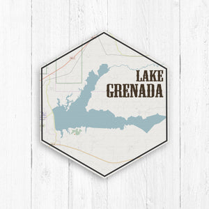 Lake Grenada Hexagon Canvas