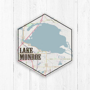 Lake Monroe Indiana Hexagon Canvas